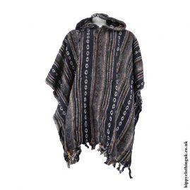 Black-&-Brown-Cotton-Poncho