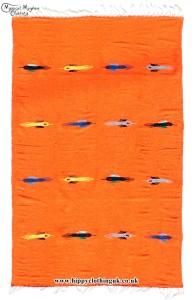 Orange Mexican Bird Blanket Rug
