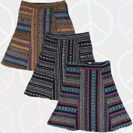 Gringo Nepalese Thick Weave Cotton Hippy Skirt