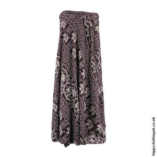 Brown-Elephant-Wrap-Skirt