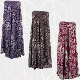 Thai Hippy Elephant Long Wrap Skirts