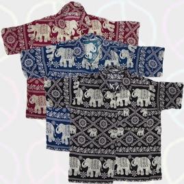 Thai Short Sleeve Elephant Shirt