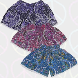 Colourful Rayon Festival Shorts