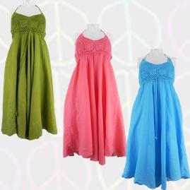 Cotton Thai Dress with Crochet Detail