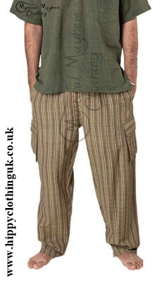 Striped Nepalese Cotton Trousers