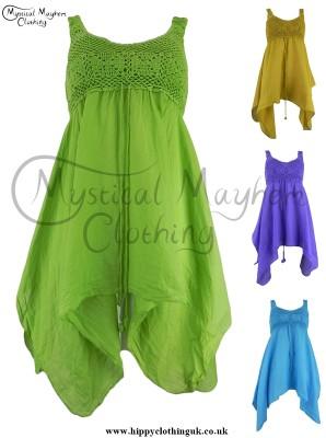 crochet cotton blouse