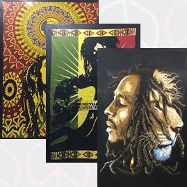 Bob Marley Cotton Throws