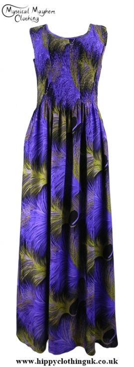 Long Hippy Festival Summer Maxi Dress Purple