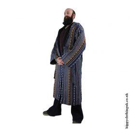 Male-Long-Hippy-Coat,-Jacket,-Jedi-Cloak-Blue