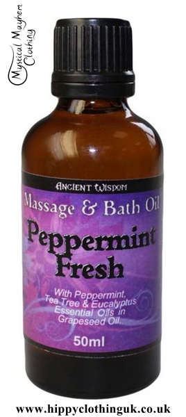 Ancient Wisdom Peppermint Fresh Massage and Bath Essential Oil 50ml