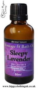 Ancient Wisdom Sleepy Lavender Massage and Bath Essential Oil 50ml