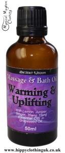 Ancient Wisdom Warm & Uplifting Massage and Bath Essential Oil 50ml