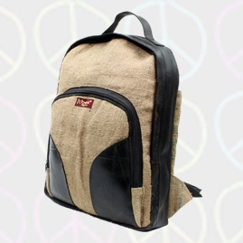 Beni Recycled Hessian & Inner Tube Backpack