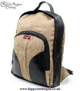 Beni Nepalese Recycled Hessian & inner tube Backpack