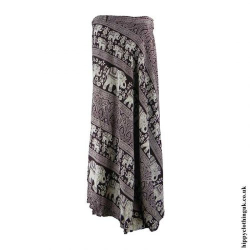 Brown-Elephant-Wrap-Skirt