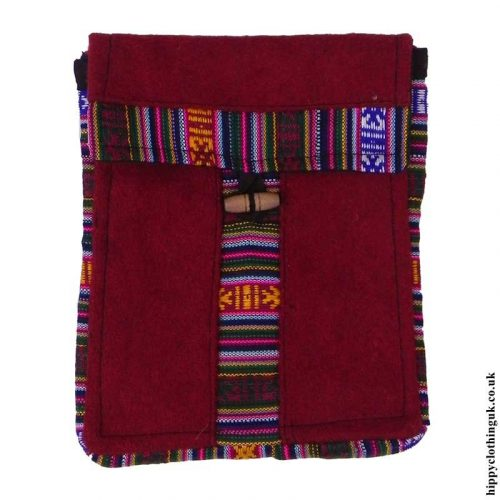 Burgundy-Nepalese-Wool-Passport-Bag