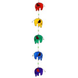 Colourful String fo Elephants Suncatcher (2)