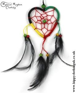 Heart Nylon Rasta Hippy Dreamcatcher