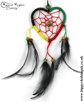 Heart Nylon Rasta Hippy Dreamcatcher