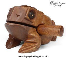 Large Wooden Croaking Frog Güiro
