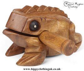 Medium Wooden Croaking Frog Güiro