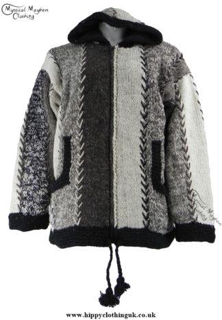Nepelase Pixie Hooded Fleece Lined Wool Jacket Unisex