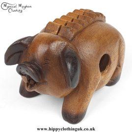 Oinking Pig Wooden Güiro