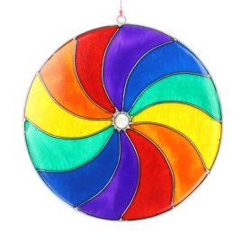 Rainbow Coloured Spiral Suncatcher