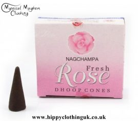 Satya Sai Baba Fresh Rose Dhoop Incense Cones