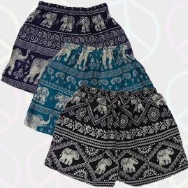 Thai Ladies Hippy Rayon Shorts