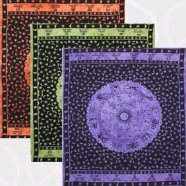 Zodiac Star Sign Cotton Throws