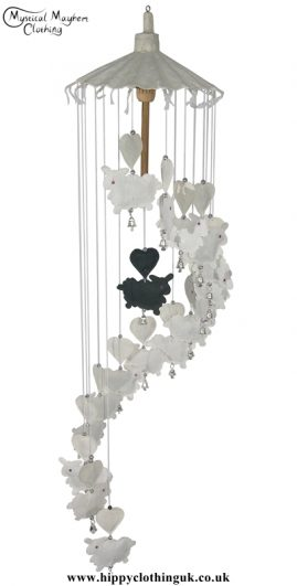 Black Sheep Saa Paper Hippy Mobile with Bells
