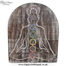 Chakra Meditation Handmade Wooden Plaque
