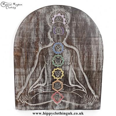 What Are Chakras? Chakra Meditation Handmade Wooden Plaque