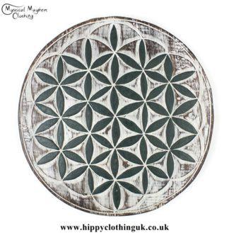 Flower of Life Handmade Wooden Plaque