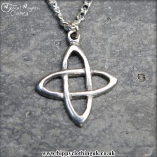 Handmade English Pewter Celtic Knot Pendant, Necklace