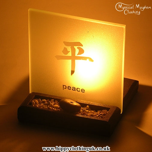 Peace Zen Garden T Light And Incense Holder With Feng Shui