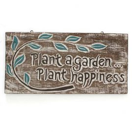 'Plant-a-garden.....-Plant-happiness'-Handmade-Wooden-Plaque