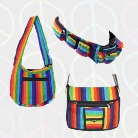Rainbow Hippy Festival Bags