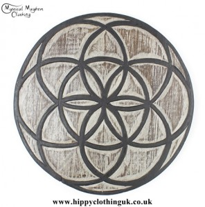 Seed of Life Handmade Wooden Plaque