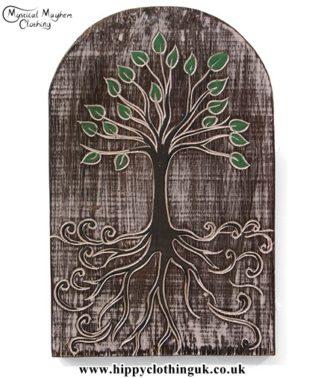 Tree of Life Handmade Wooden Plaque