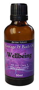 Ancient Wisdom Essential Oil Massage and Bath Oils - Wellbeing