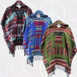 Aztec Style Acrylic Ponchos