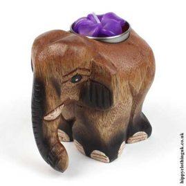 Carved-Wooden-Elephant-Tea-Light-Candle-Holder