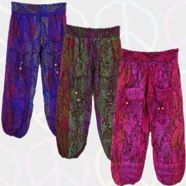 Funky Patterned Cashmilon Cashmelon Trousers