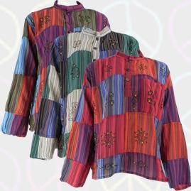 Gringo Cotton Patchwork Hippy Festival Grandad Shirts