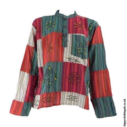 Multicoloured-Patchwork-Hippy-Shirt