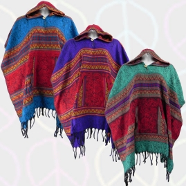 Patterned Acrylic Ponchos