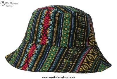 Gheri Floppy Thai Cotton Hippy Hat Green