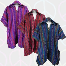 Open Front Acrylic Poncho